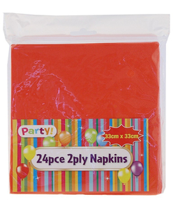 Red Napkins - 24 Pack