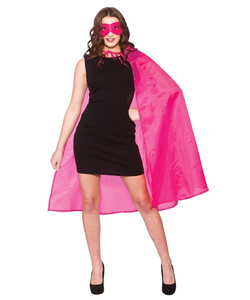 Superhero Cape & Mask pink