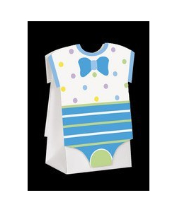 Blue Baby Shower Favour Boxes - 8 Pack
