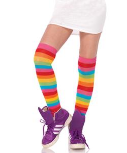 Rainbow Thigh High Stockings