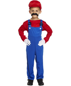 Red Super Workman Costume