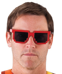 Red Pixel Glasses