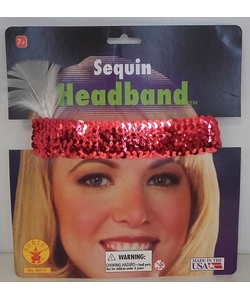 Sequin Headband - Red
