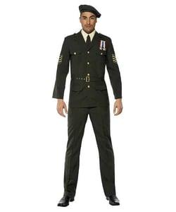 Wartime Officer Mens Costume