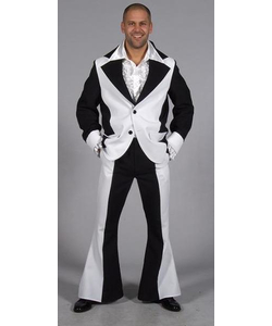 Men's Seventies Suit - Black & White